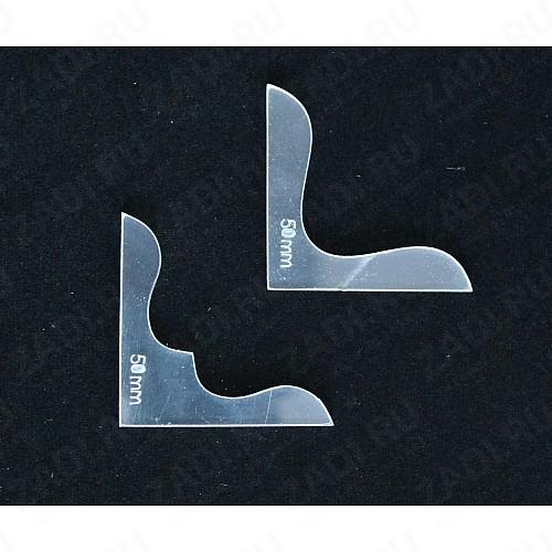 Шаблон акриловый (прозрачный) №13 (50 и 50мм)