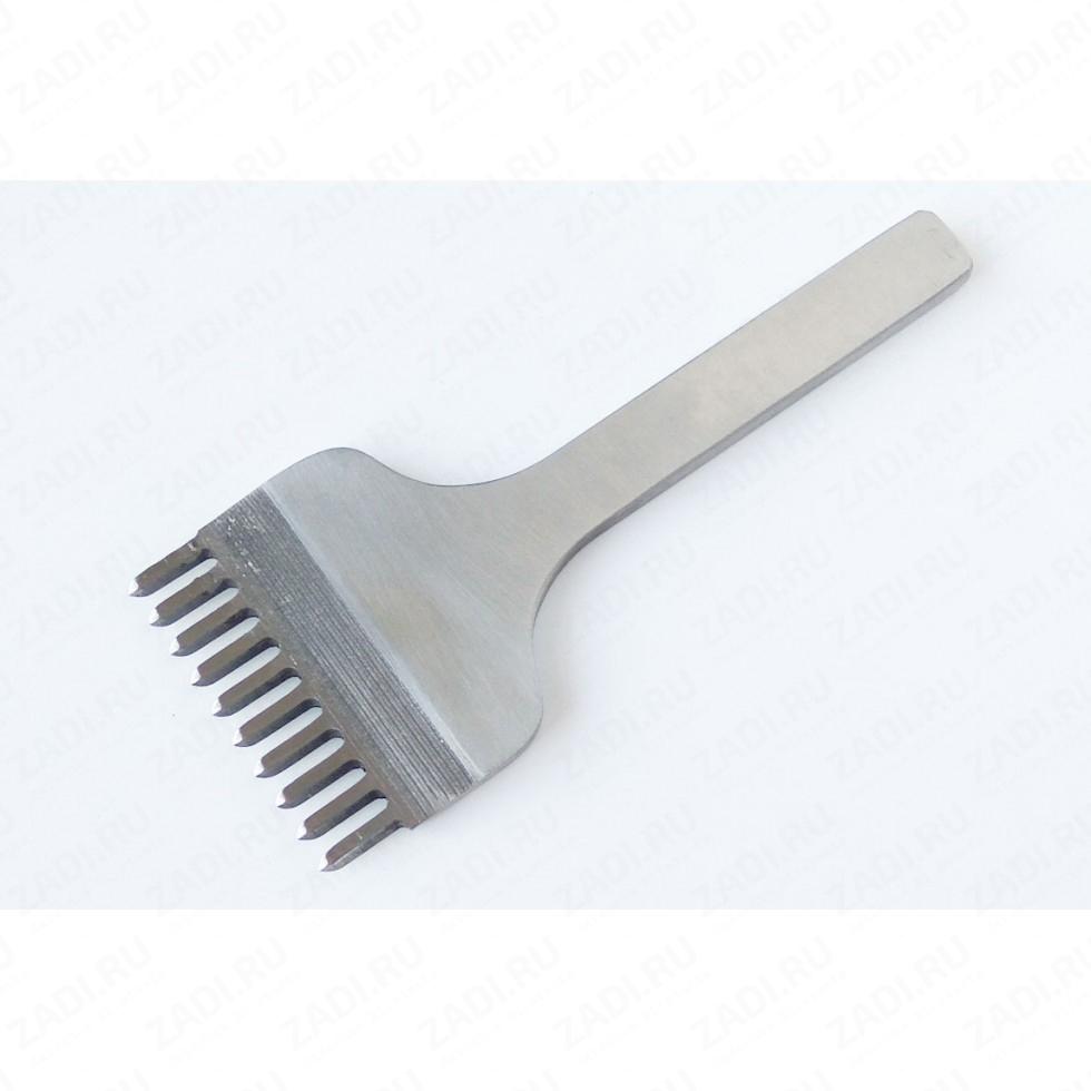 Пробойник строчный ромбовидный 10 зубцов (4мм х 2,5мм) арт. ТК4841