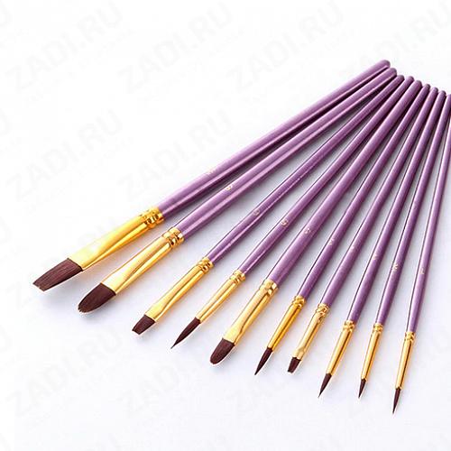 Набор кистей для акриловых/масленых  красок 10 шт арт 7011C