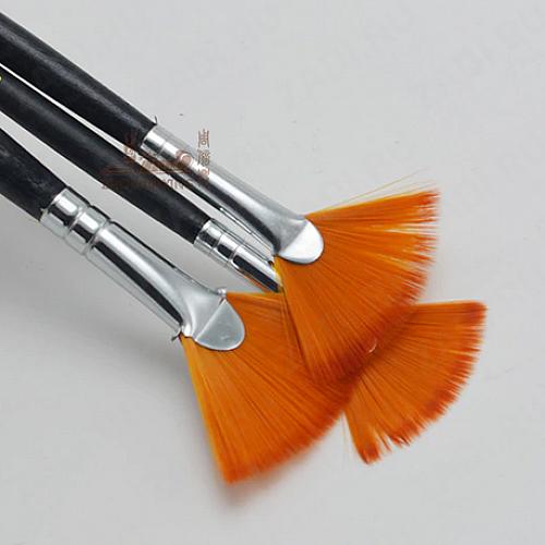 Набор веерных кистей для акриловых/масленых красок 3 шт арт. 9012