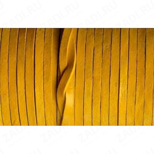 Лента кожаная 1х4мм (жёлтый) L91