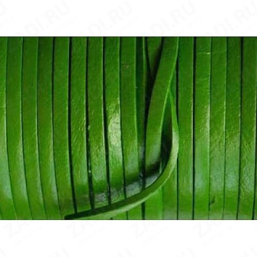 Лента кожаная 1х3мм (зелёный) L94