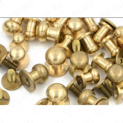 """Заклёпка резьбовая,  кобурная """"золото"""" 5мм 1шт. IKF258"""