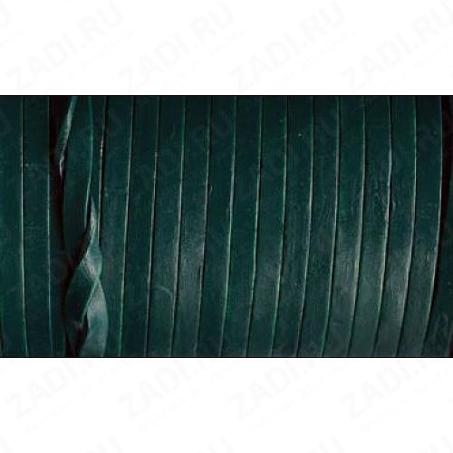 Лента кожаная 1х4мм (тёмно-зелёный) L93