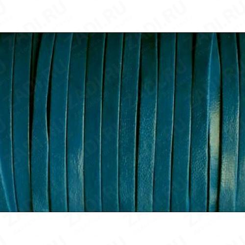 Лента кожаная 1х3мм (синий) L89