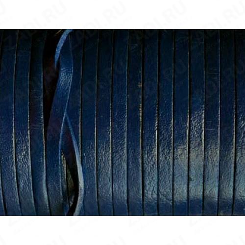 Лента кожаная 1х3мм (тёмно-синий) L88