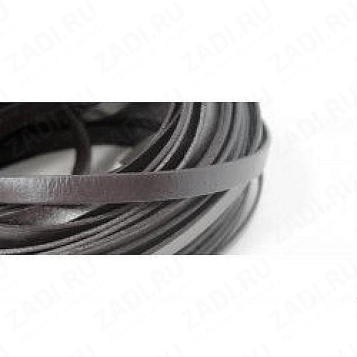Лента кожаная 1,3х3мм (тёмно-коричневый) L62