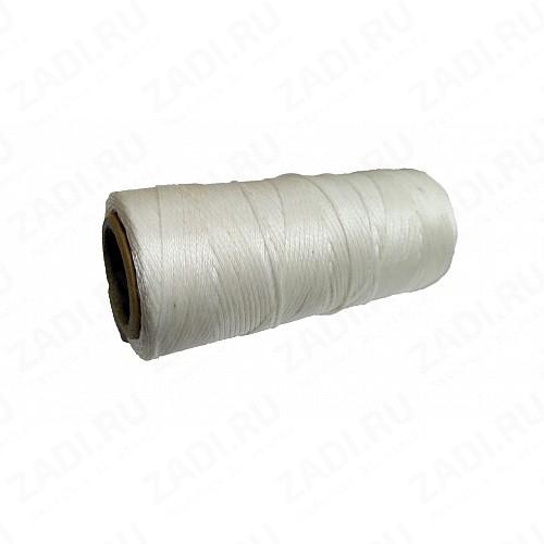 Нить плетёная-вощёная, сечение плоское 0,8мм (белая)-100м. NIP-F428