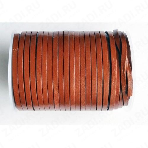 Лента кожаная 1,3х3мм (коричневый) L64