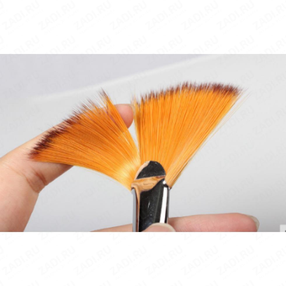 Набор веерных кистей для акриловых/масленых красок 9 шт арт. 9008