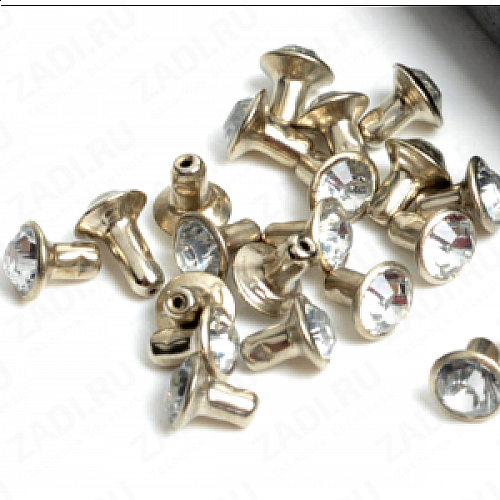 "Набор заклёпок ""кристалл"" 6мм IKF179  (10 шт)"