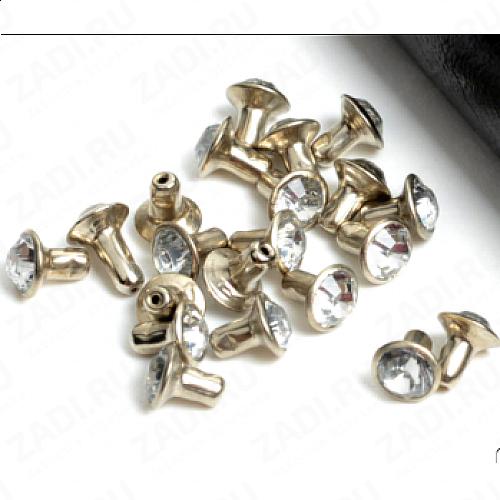 "Набор заклёпок 10мм   ""кристалл"" IKF158  (10 шт)"