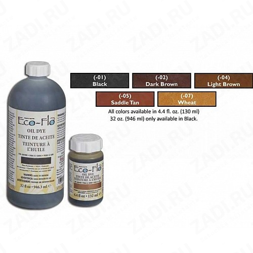 Eco-Flo Oil Dye (Wheat,Saddle Tan,Black, Dk. Brown, Lt. Brown) 130ml