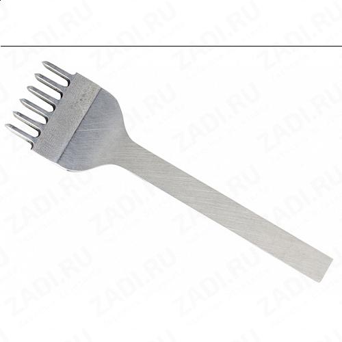 Пробойник строчный ромбовидный  6 зубцов  (3мм х 2мм) арт. ТК2377