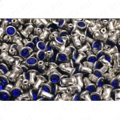 """Набор заклёпок """"темно синий"""" 4мм  IKF25 (10 шт)"""