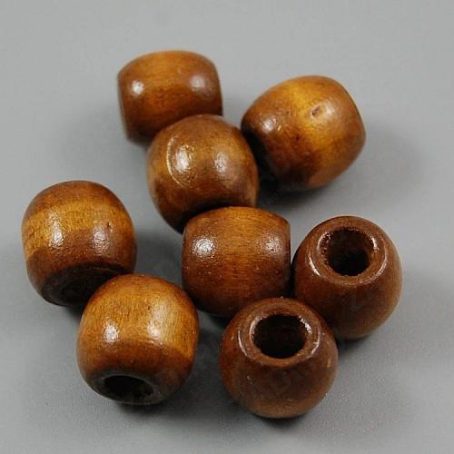 Бусина деревянная (коричневый)  9х10мм арт. В18