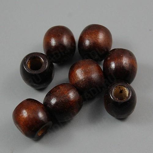 Бусина деревянная (тёмно коричневый)  9х10мм арт. В16