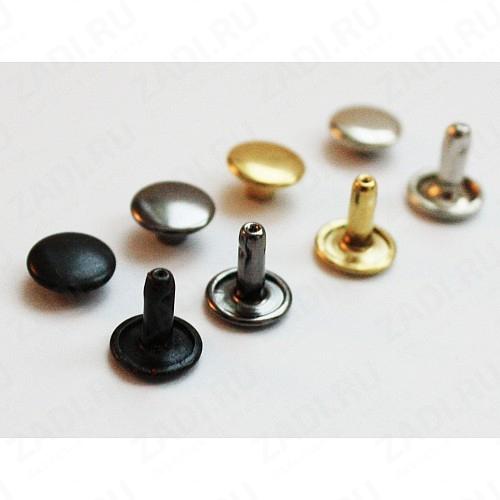 Хольнитены двухсторонние 9мм (оксид, черный никель, золото, никель, антик ) 10 шт