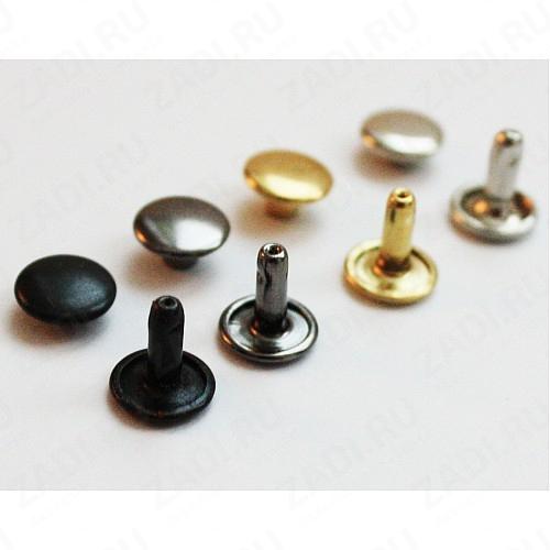 Хольнитены двухсторонние 7мм (никель,чёрный никель,оксид,бронза,золото) 10 шт