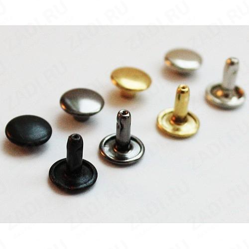 Хольнитены двухсторонние 6мм ( никель, оксид, антик, золото)  10 шт