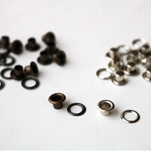 Набор латунных  люверсов  (никель; антик) 3мм(10 шт)