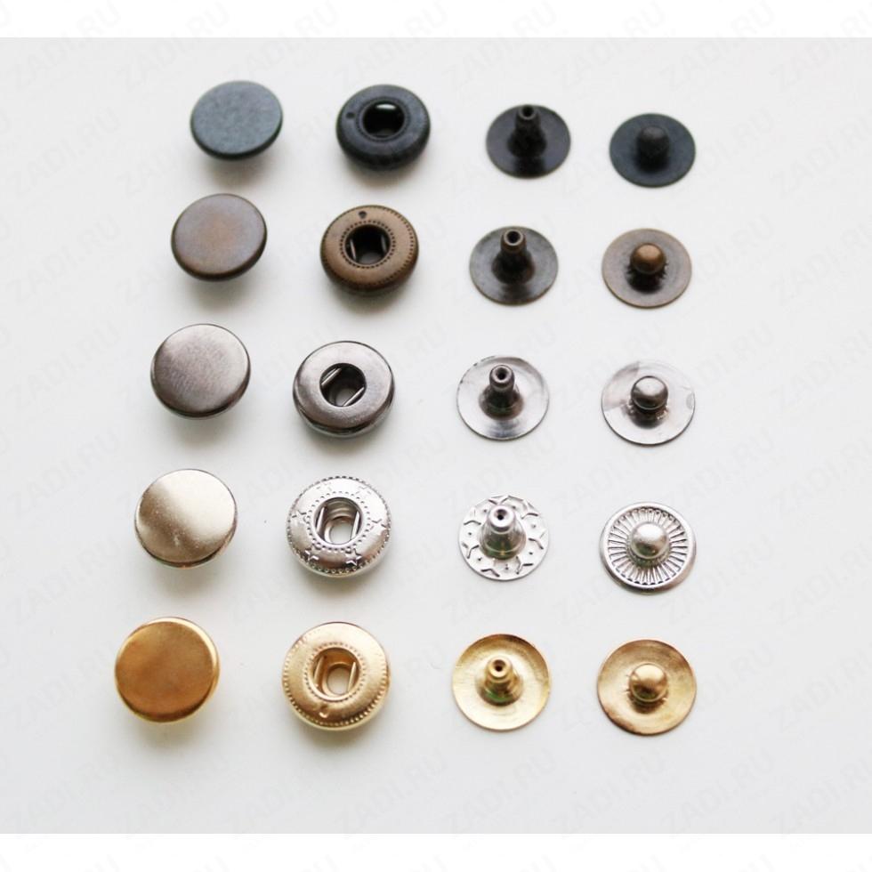 Кнопка латунная Alfa 10мм 1шт арт.VT 201