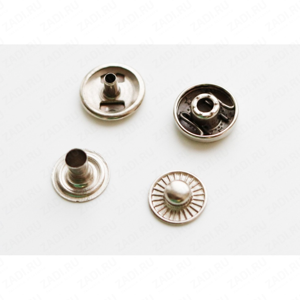 Кнопка латунная Alfa  12,5мм 1шт арт.VT 202