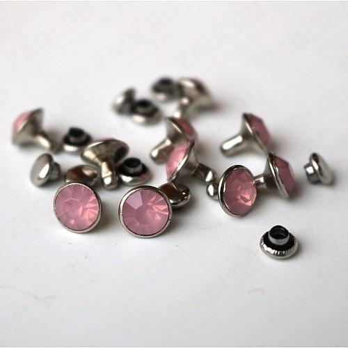"""Набор заклёпок  """"розовый"""" 8мм IKF57 (10шт)"""