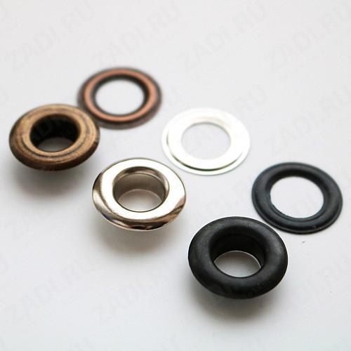 Набор люверсов  (никель; антик; оксид) 9мм (10 шт) арт. EFN 08