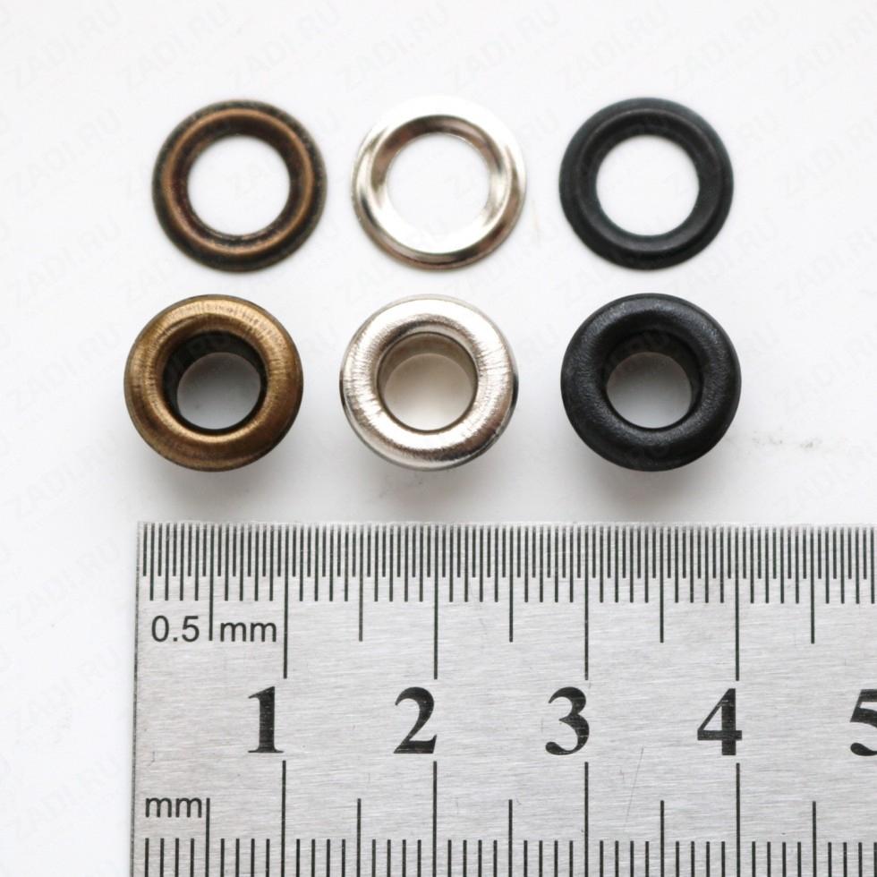 Набор люверсов  (никель; антик; оксид) 6мм (10 шт) арт. EFN 07