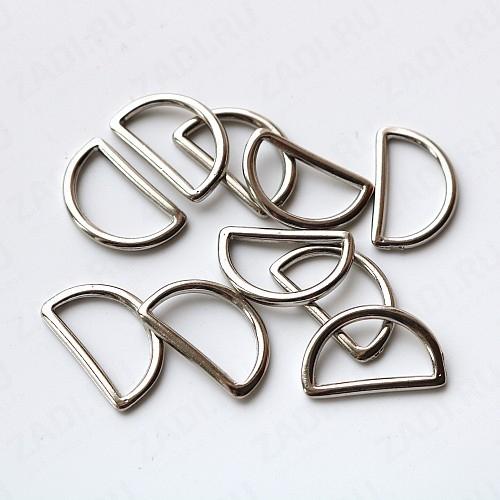 Полукольца литые металлические 20мм  (никель) 2мм 1шт арт 0432