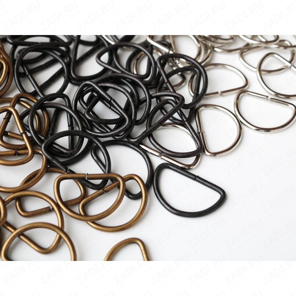 """Упаковка фурнитуры """"Полукольца""""  20мм  (оксид, бронза, медь, никель) 2мм 95шт"""