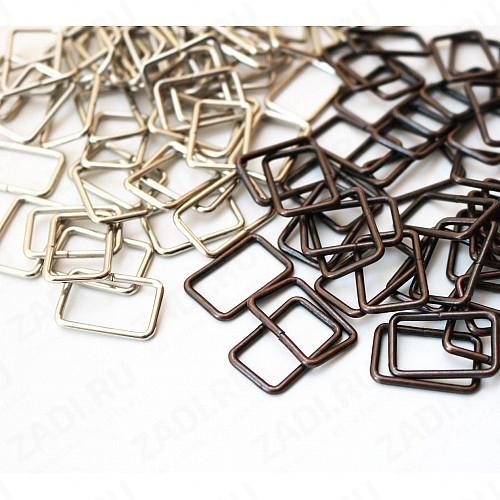 """Упаковка фурнитуры """" Рамка прямоугольник"""" 20х12мм  2мм (никель, бронза , медь, оксид)"""