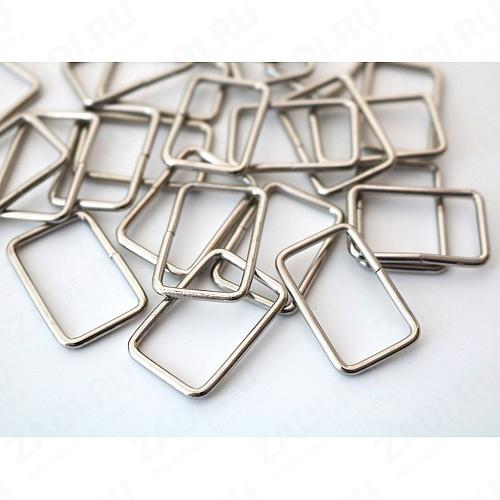 Рамка прямоугольник 25х15мм 2мм  (никель) 1 шт  арт.307