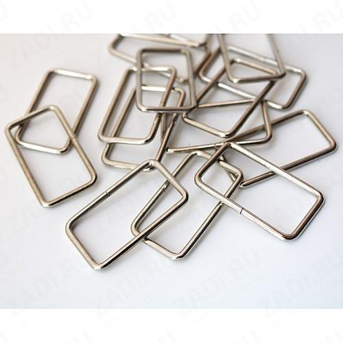 Рамка прямоугольник 40х20мм 3мм (никель) 1 шт IKF614
