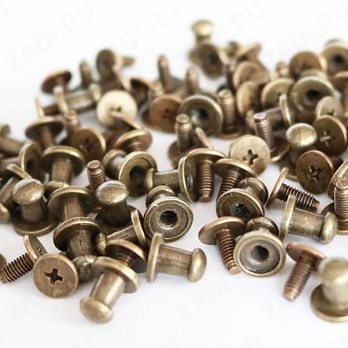 Заклёпка резьбовая, кобурная (антик,черный никель,никель, золото)  5мм  1шт. арт. IKF3520