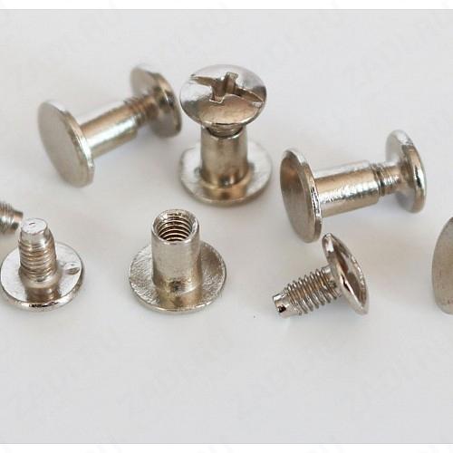 Заклёпка резьбовая, кобурная (никель, золото, черный никель) 8мм  1шт. арт. IKF4058