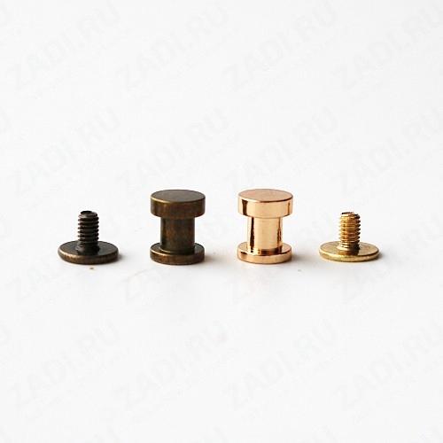 Набор ременных винтов (антик, золото) 10шт 4мм арт.DM10A
