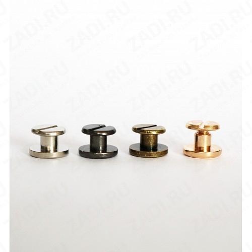 Набор ременных винтов (антик, никель, золото, черный никель) 10шт 3.5мм арт. DM9B2