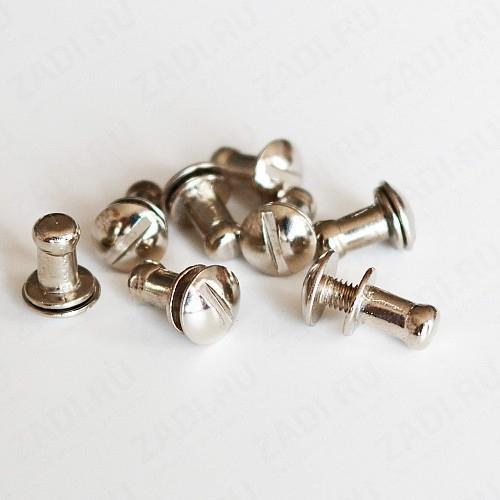 Заклёпка резьбовая, кобурная (никель,черный никель) 4мм 1шт IKF113