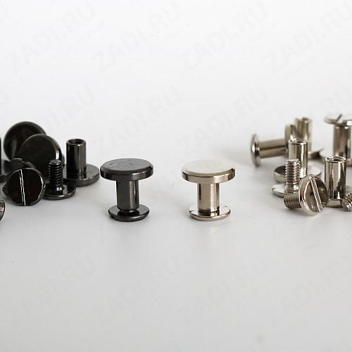 Набор ременных винтов ( никель, чёрный никель) 10шт 6мм арт.DM9D