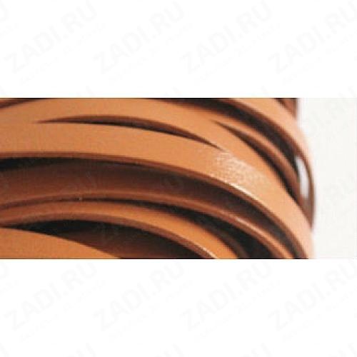 Лента кожаная 1х3мм (св.коричневая) L87