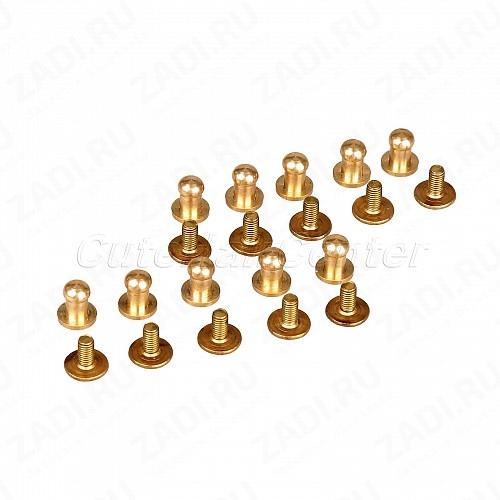 """Заклёпка резьбовая,  кобурная """"золото"""" 5мм 1шт. IKF327"""