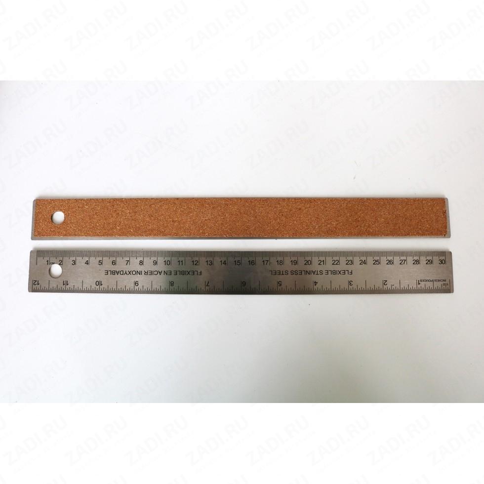 Линейка металлическая (дюймы и см) 30 см  арт.T6002-00