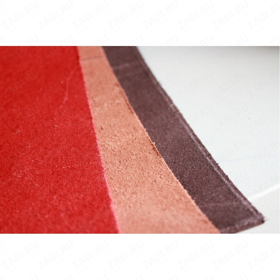 Кожа телячья красная (полоса) 136см на 21см. 2,5-2,8мм арт.3258