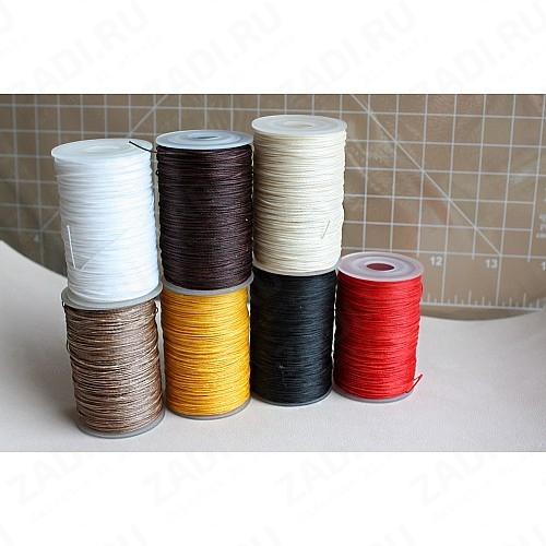Нить плетёная круглая-вощёная в ассортименте 100м. 0,55мм