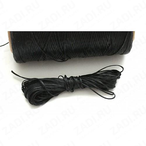 Нить плетенная (вощенная) черная 0,8мм  NIP3 10м