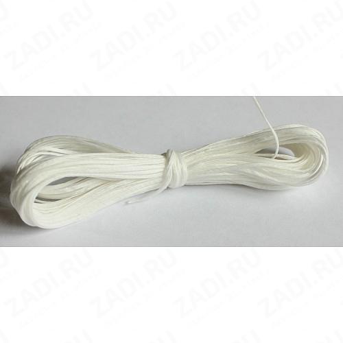 Нить плетенная (вощеная) белая NIP459 0,8мм  10м
