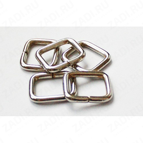 Рамка прямоугольник сварная 25х15м 4мм  (никель) 1шт. арт.РВ0305