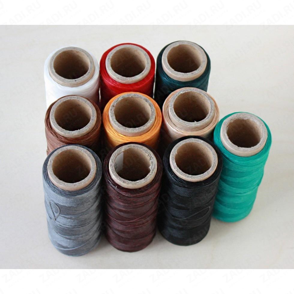 Нить плетёная-вощёная в ассортименте 25м. 0,8мм